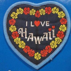 Vintage Hawaii Souvenir Travel Patch Postcard